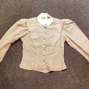 TRUE VINTAGE 1960s small career blouse